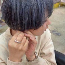 塩基性カラーで作るペールブルー