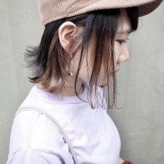 帽子を被った時に映えるインナーカラー